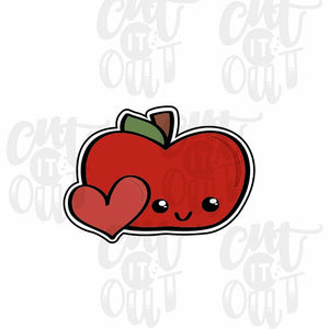 Cutie Apple with Heart Cookie Cutter