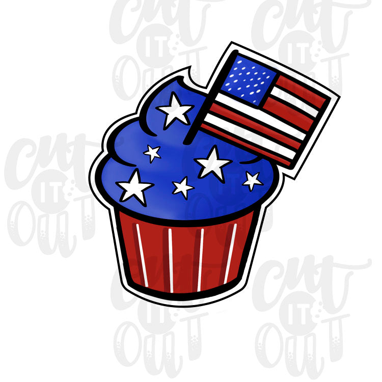 Patriotic Cupcake Cookie Cutter