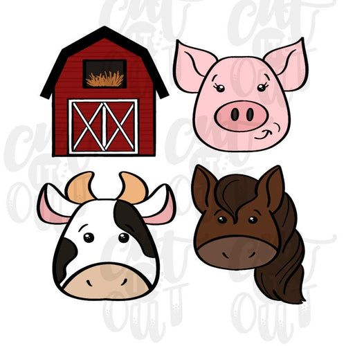 Farm Animal Cookie Cutter Set