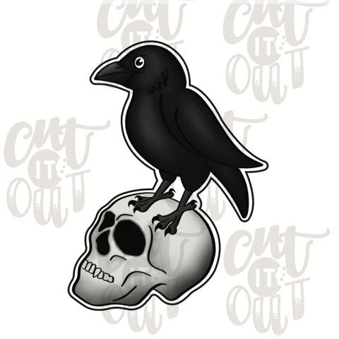 Raven & Skull Cookie Cutter
