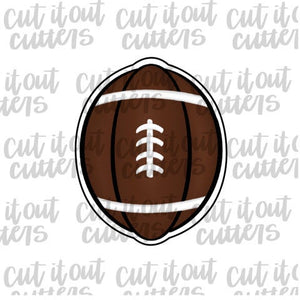 Football Pumpkin Cookie Cutter