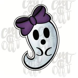 Girly Cutie Ghost Cookie Cutter