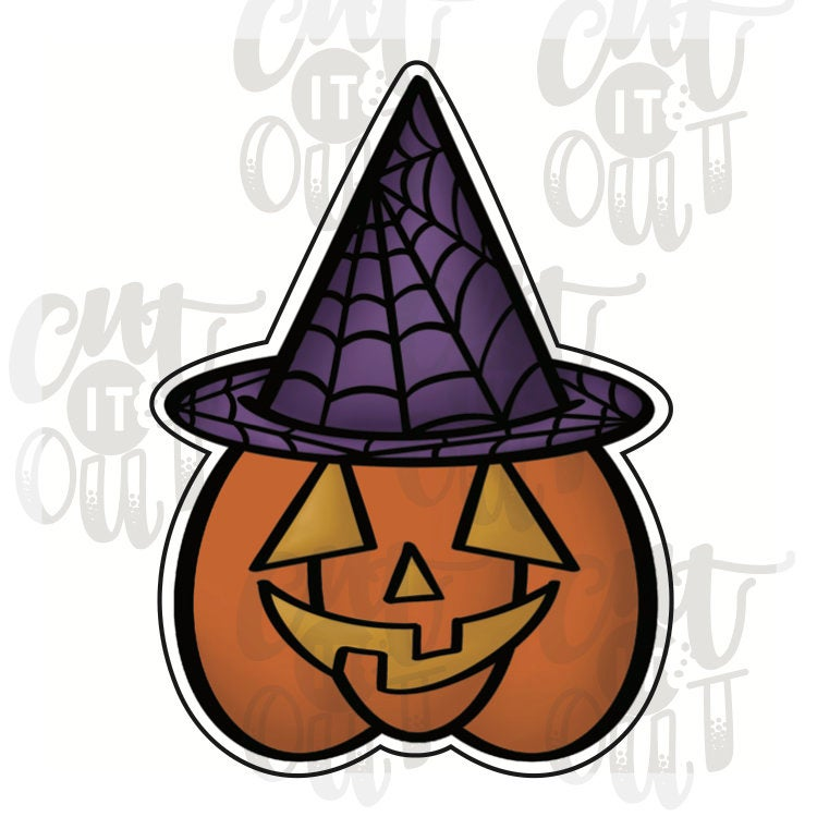 Witchy Pumpkin Cookie Cutter