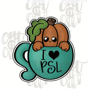 PSL Pumpkin Mug Cookie Cutter