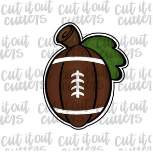 Football Pumpkin With Stem Cookie Cutter