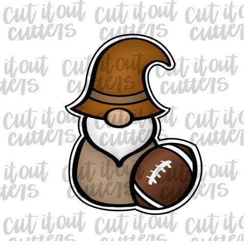 Football Gnome Cookie Cutter