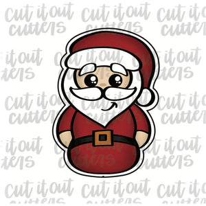 Chubby Santa Cookie Cutter