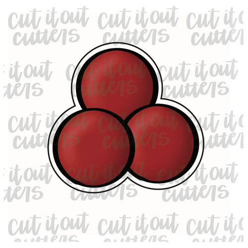 Triple Holly Berry Cookie Cutter