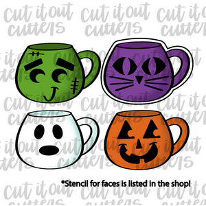 Faces Coffee Mug Cookie Cutter