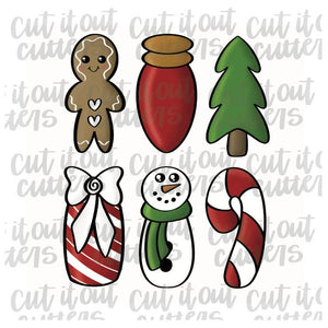 Christmas Cookie Stick Cutter Set