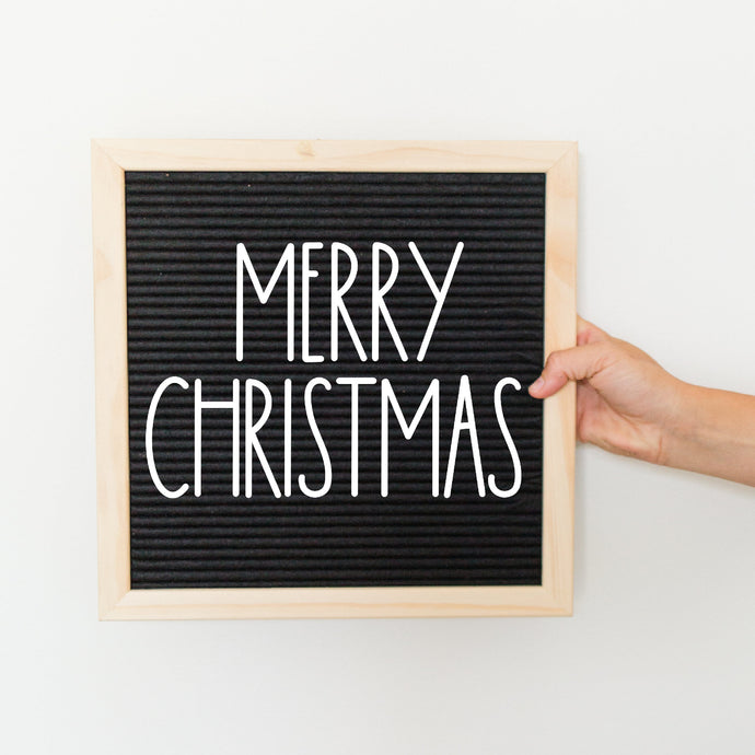 Merry Christmas (Print) Letter Board Accessory