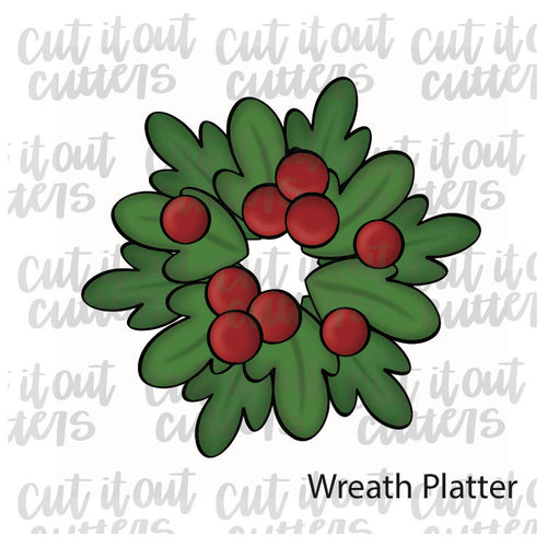 Wreath Platter Cookie Cutter