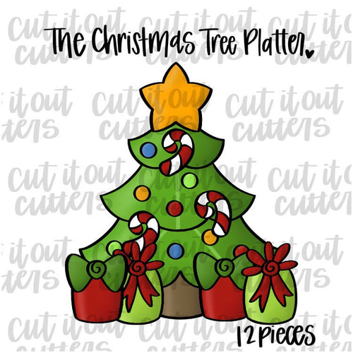 Christmas Tree Platter. 12 Piece Set or 8 Piece Set. Please Read Description For Details.