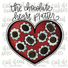 Load image into Gallery viewer, Chocolate Heart Platter & Valentines Tic Tac Toe