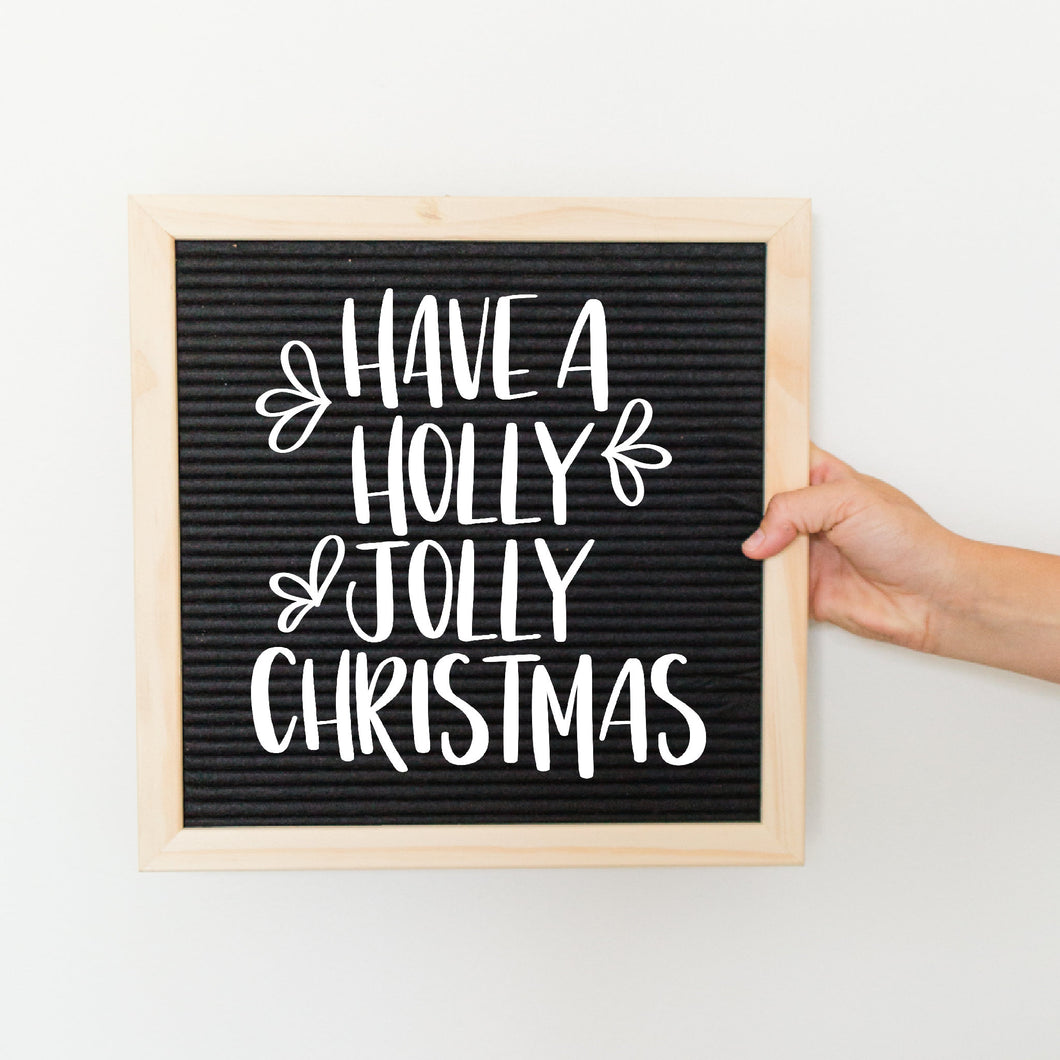Have A Holly Jolly Christmas Letter Board Accessory