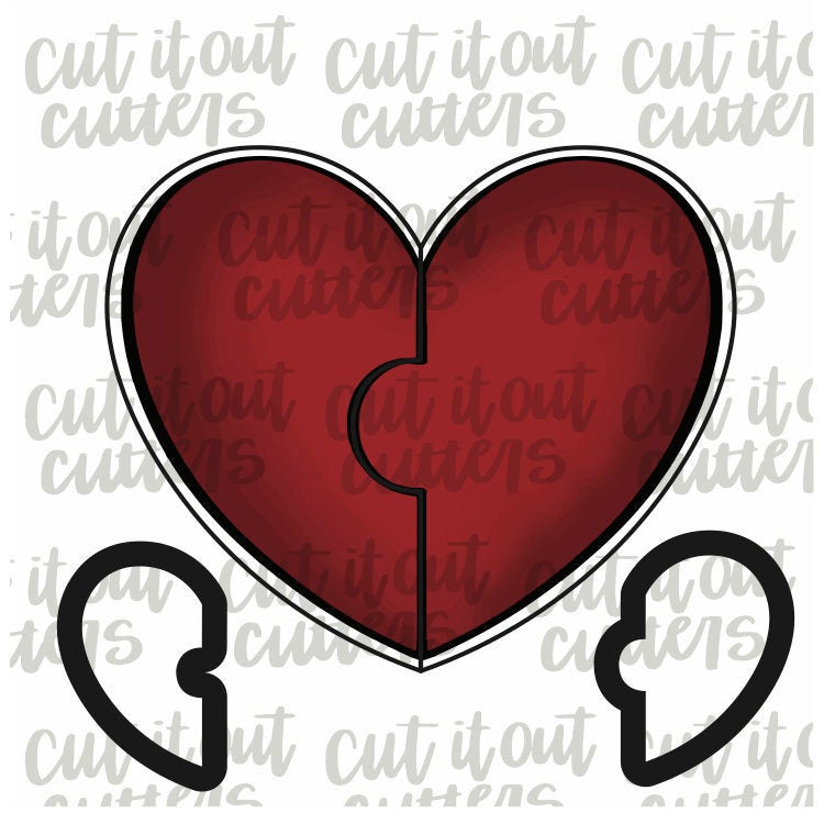 Best Friend Heart Cookie Cutter