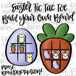 Build Your Own Easter Tic Tac Toe Cookie Cutter Set