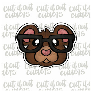 Nerdy Bear Cookie Cutter