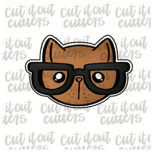 Nerdy Cat Cookie Cutter