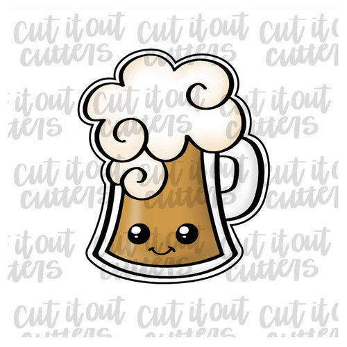 Foamy Beer Mug Cookie Cutter