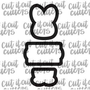 3 Piece Bunny Cookie Cutter Set