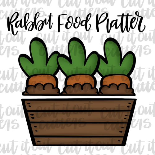 Rabbit Food Platter Cookie Cutter Set