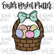 Load image into Gallery viewer, Easter Basket Platter Cookie Cutter Set