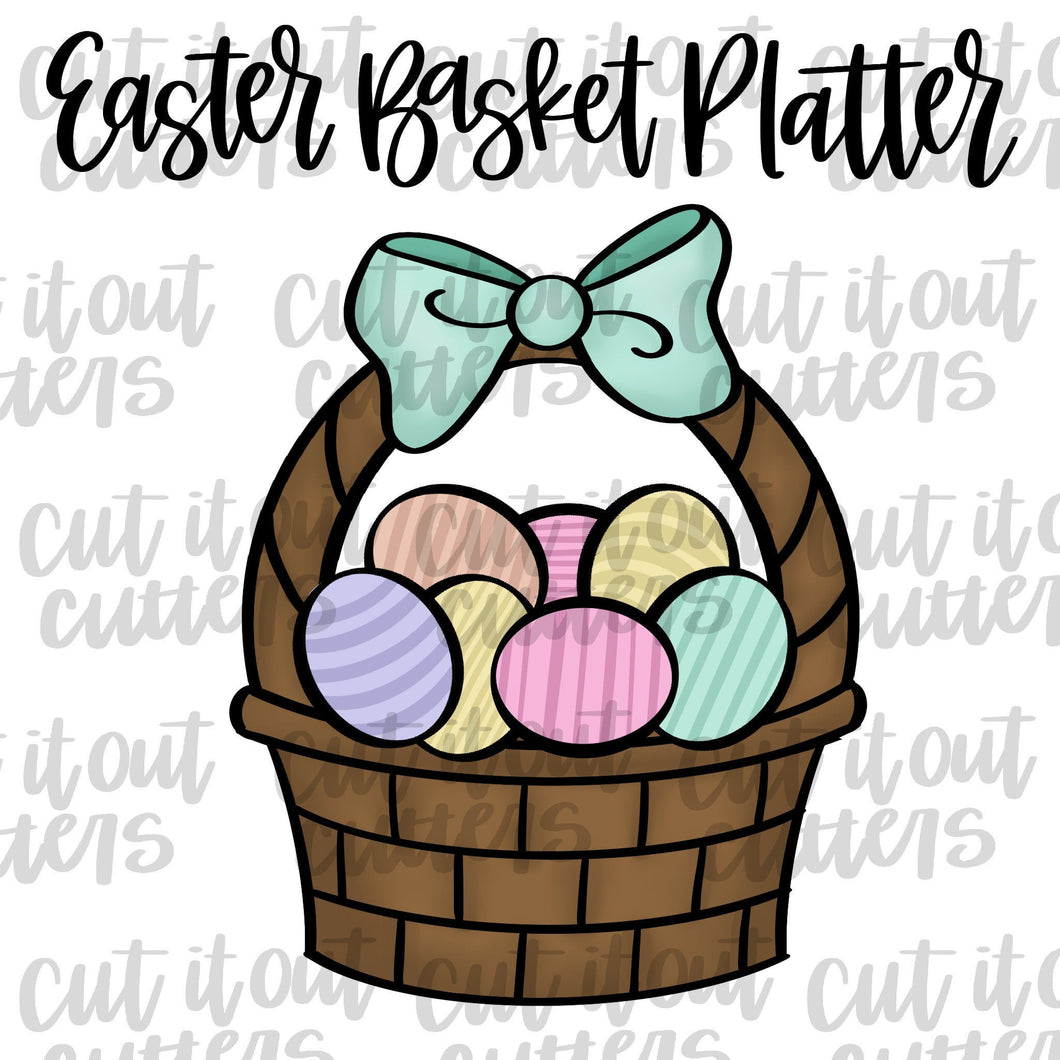 Easter Basket Platter Cookie Cutter Set