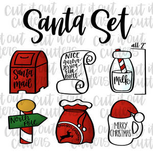 "Tiny 2"" Santa Cookie Cutter Set"