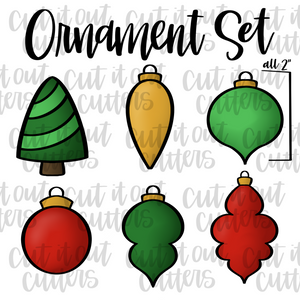 "Tiny 2"" Ornament Cookie Cutter Set"