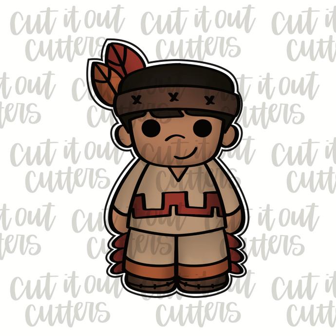 Native American Boy Cookie Cutter