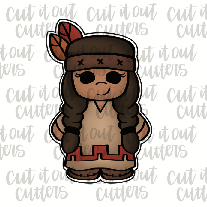 Native American Girl Cookie Cutter