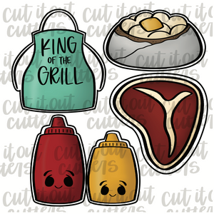 King Of The Grill Cookie Cutter Set