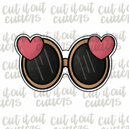 Love Glasses Cookie Cutter