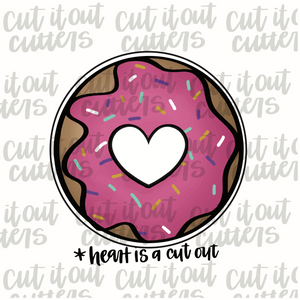 Love Donut Cookie Cutter