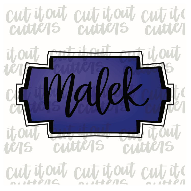 Malek Plaque Cookie Cutter