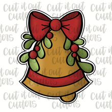 Load image into Gallery viewer, Mistletoe Bell Cookie Cutter