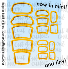 Load image into Gallery viewer, MINI & TINY Build A Brew Cookie Cutter Set