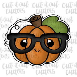 Nerdy Twirly Pumpkin Cookie Cutter