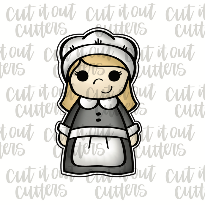 Pilgrim Girl Cookie Cutter