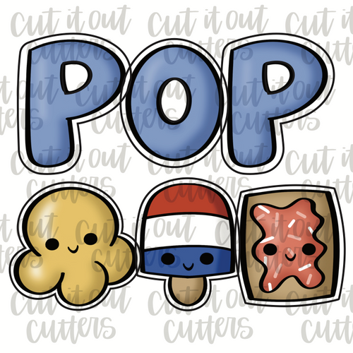 Pop Minis Cookie Cutter Set