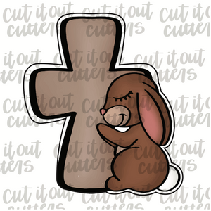 Praying Bunny & Cross Cookie Cutter