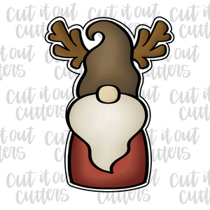 Reindeer Gnome Cookie Cutter
