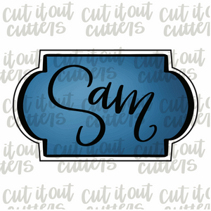 Sam Plaque Cookie Cutter