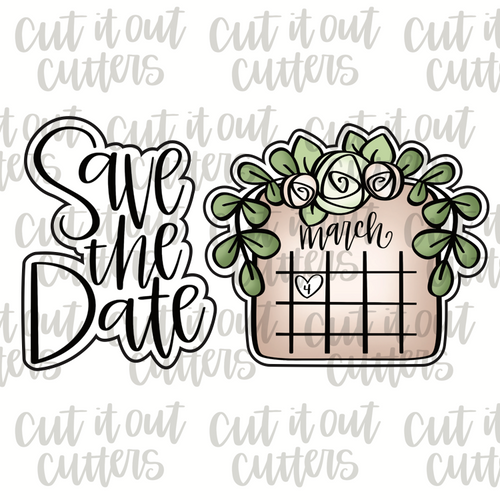 Save The Date Cookie Cutter Set