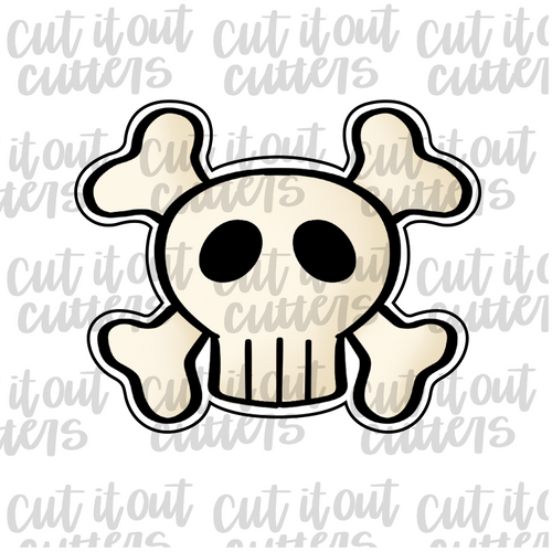 Skull And Cross Bones Cookie Cutter