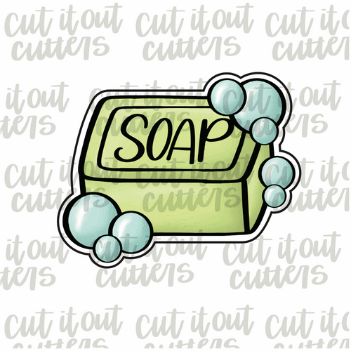 Soap with Bubbles Cookie Cutter