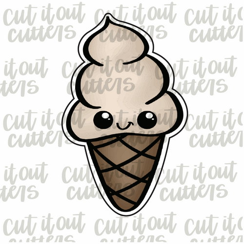 Soft Serve Cone Cookie Cutter