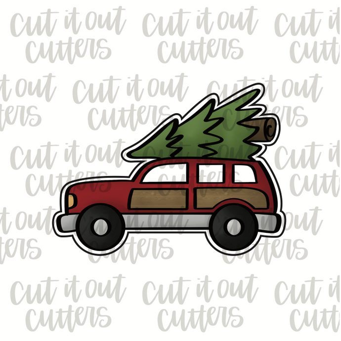 Station Wagon and Tree Cookie Cutter