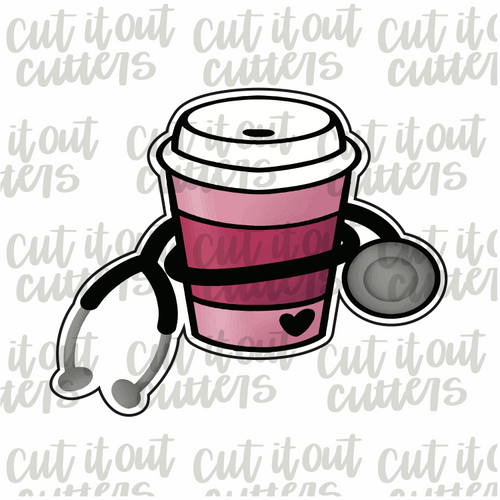 Stethoscope Coffee Cookie Cutter